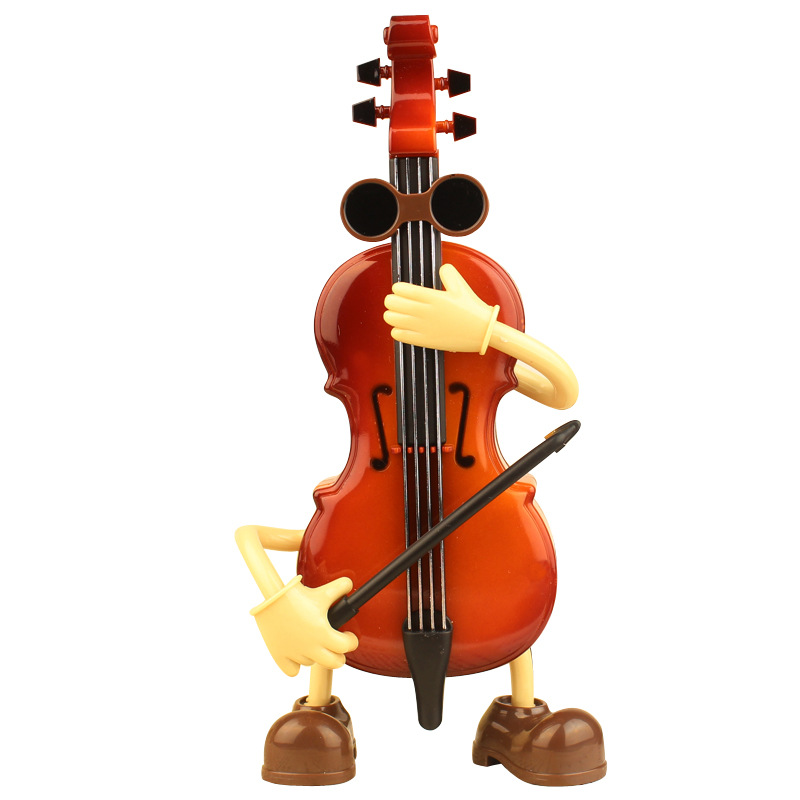 Lovely Mini Vintage Music Box Antique Violin Shape Music Box for Christmas Gift Birthday Gift Party Decoration Wholesale Random track