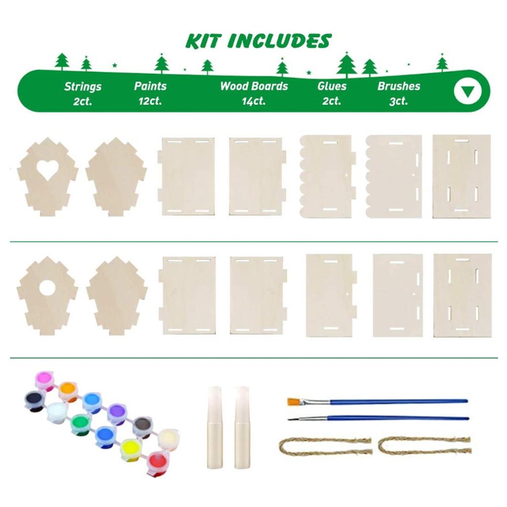 DIY Bird House Kit Build Paint Birdhouse As shown