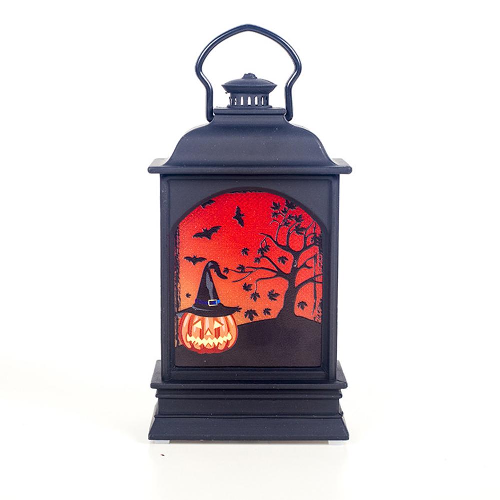 Color Painting LED Lantern Lamp Hanging Pendant for Halloween Decor Prop Pumpkin