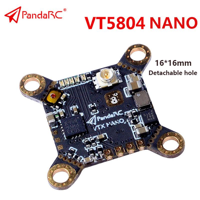 PandaRC VT5804 Nano Video Transmitter 5.8G 48CH 0mW/25mW/50mW/ 100mW /200mW/400mW Switchable OSD Adjustable UFL VTX default