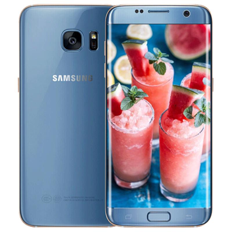Samsung Galaxy S7 Edge G935F & G935V Smartphone 5.5'' 4GB RAM 32GB ROM WIFI Single SIM 12MP 1080P 4G LTE Quad Core Mobile Phone blue_32G