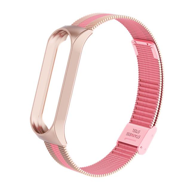 Mi Band 3 Wrist Strap Metal Screwless Stainless Steel for Xiaomi Mi Band 3 Strap Bracelet Miband 3 Wristbands Pulseira Miband3 pink