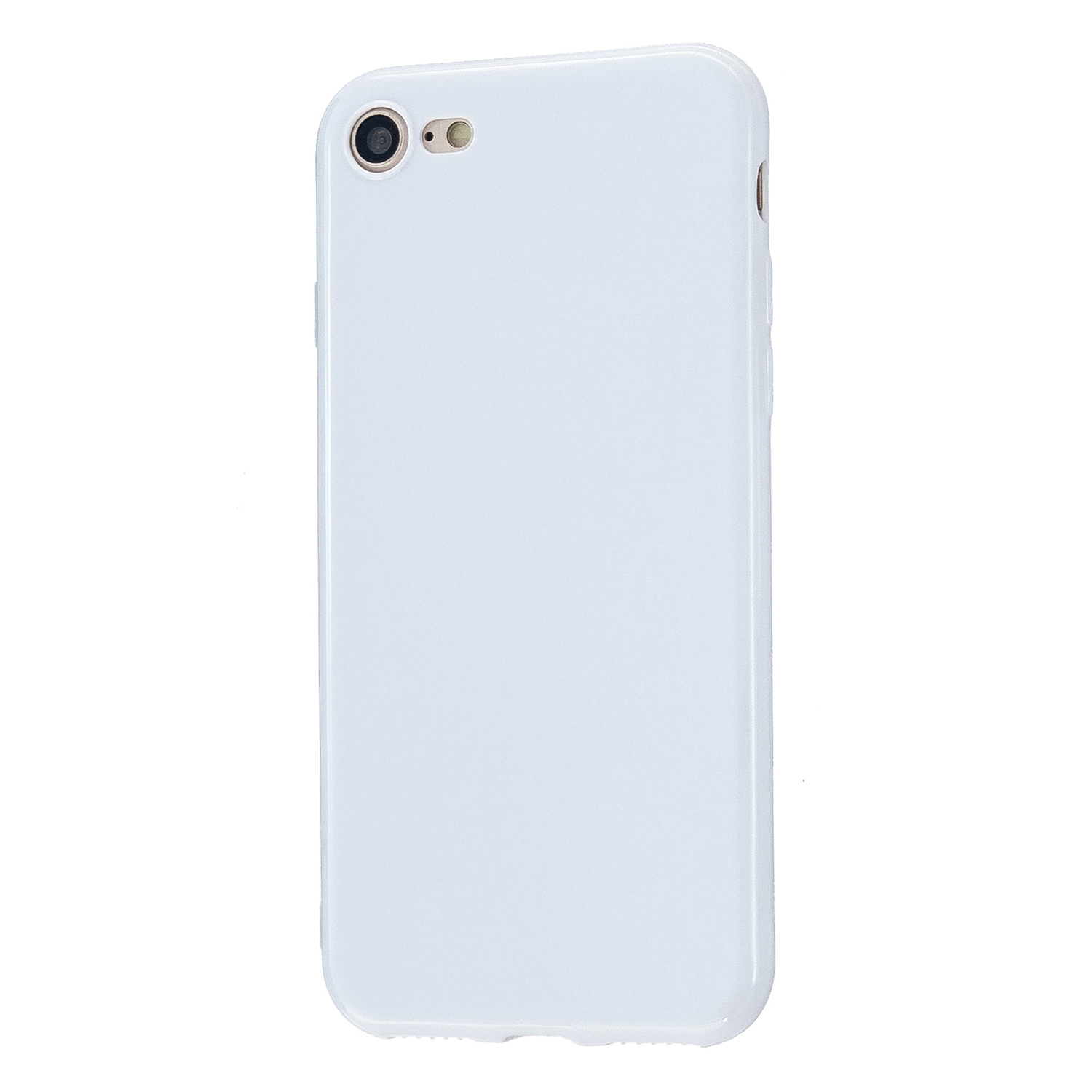 For iPhone 5/5S/SE/6/6S/6 Plus/6S Plus/7/8/7 Plus/8 Plus Cellphone Cover Soft TPU Bumper Protector Phone Shell Milk white