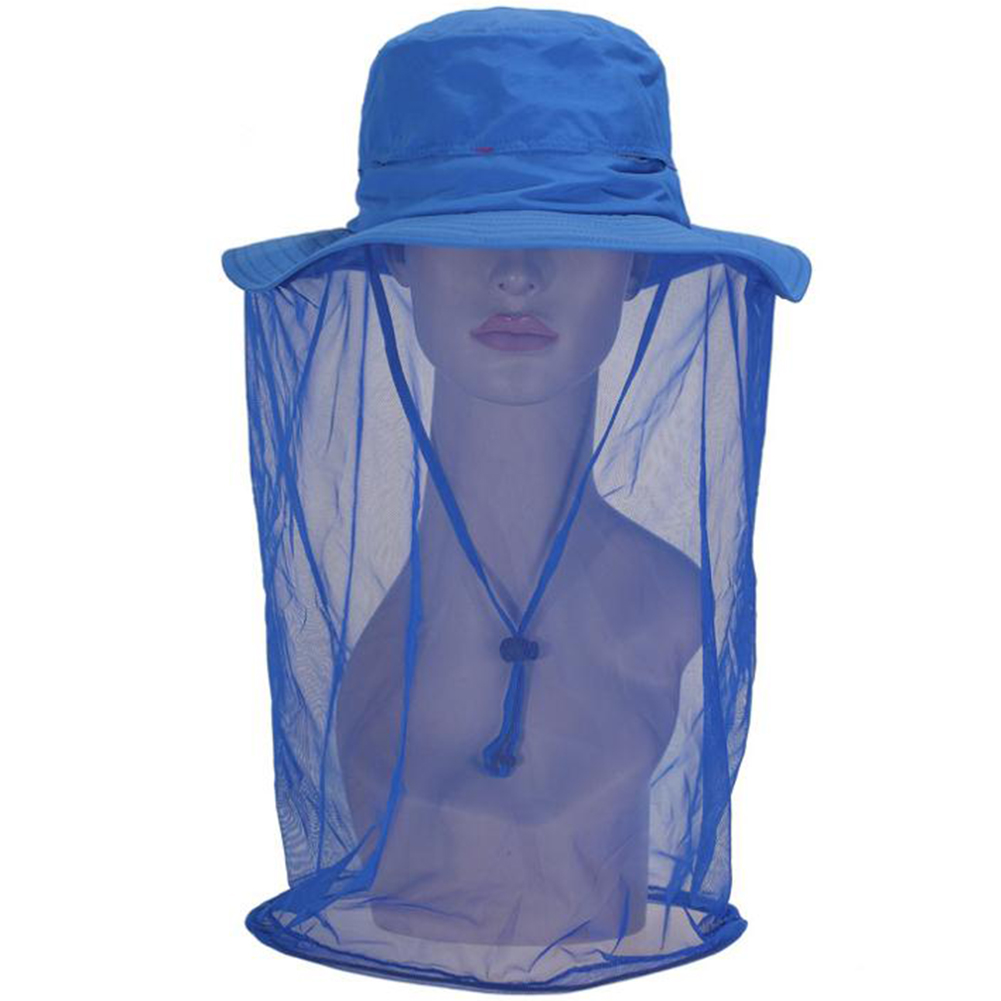Unisex Outdoor Anti-mosquito Mask Fishing Hat with Head Net Mesh Face Protection