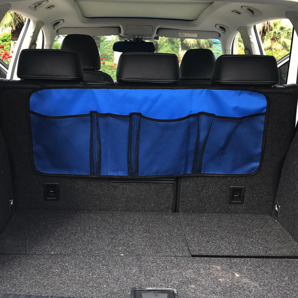 Car Trunk Organizer Adjustable Backseat Storage Bag Automobile Seat Back Organizers Normal version dark blue