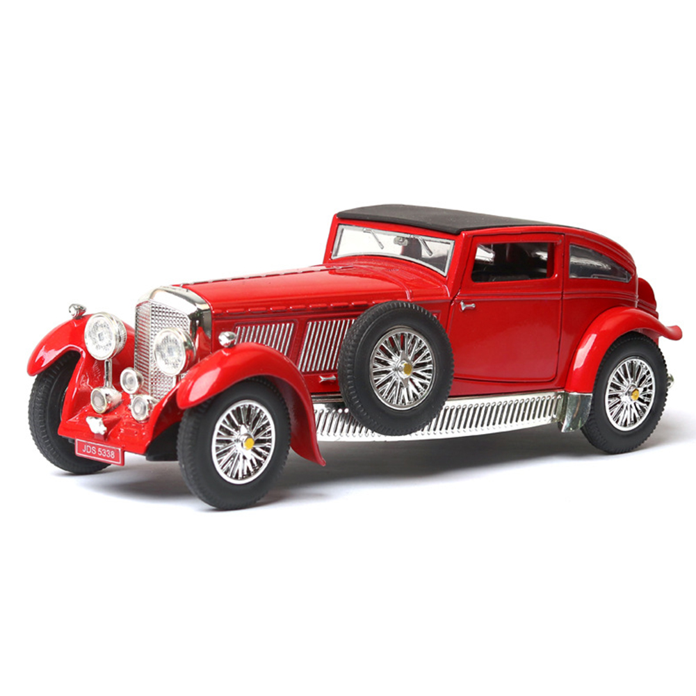 Antique Light Sound Pull Back Car Modeling Toy for Bentley 8L Collection(Box Packing) red