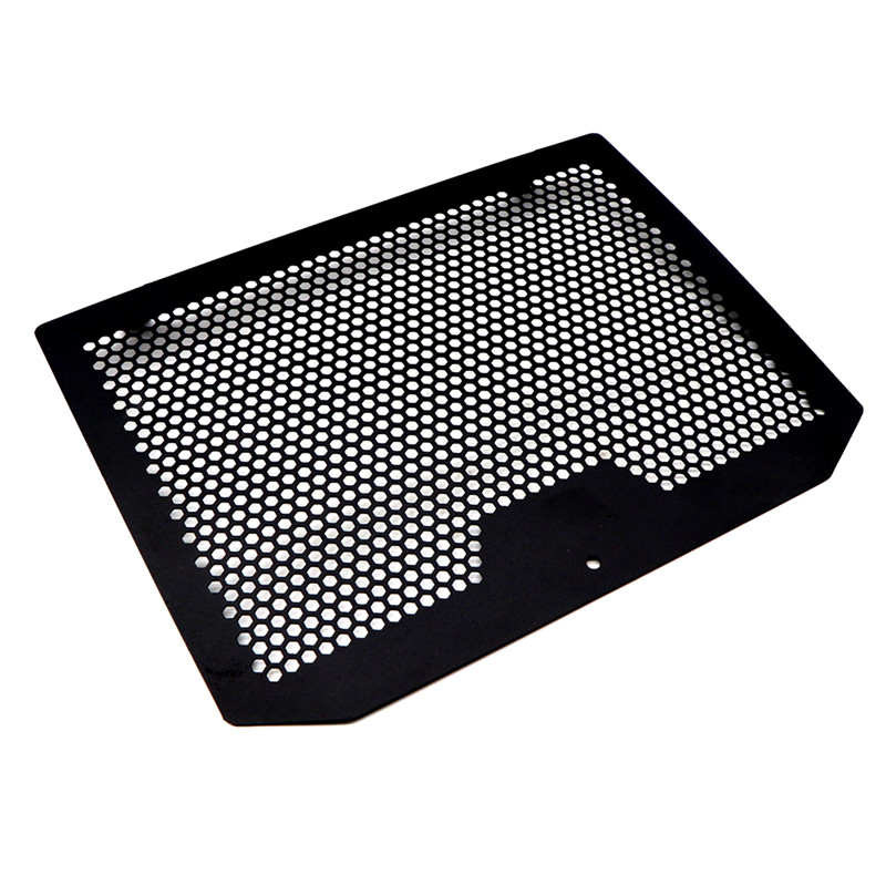 For Benelli TRK 502 17-19 Motorcycle Stainless Steel Radiator Grille Grill Cover Protector Guard black