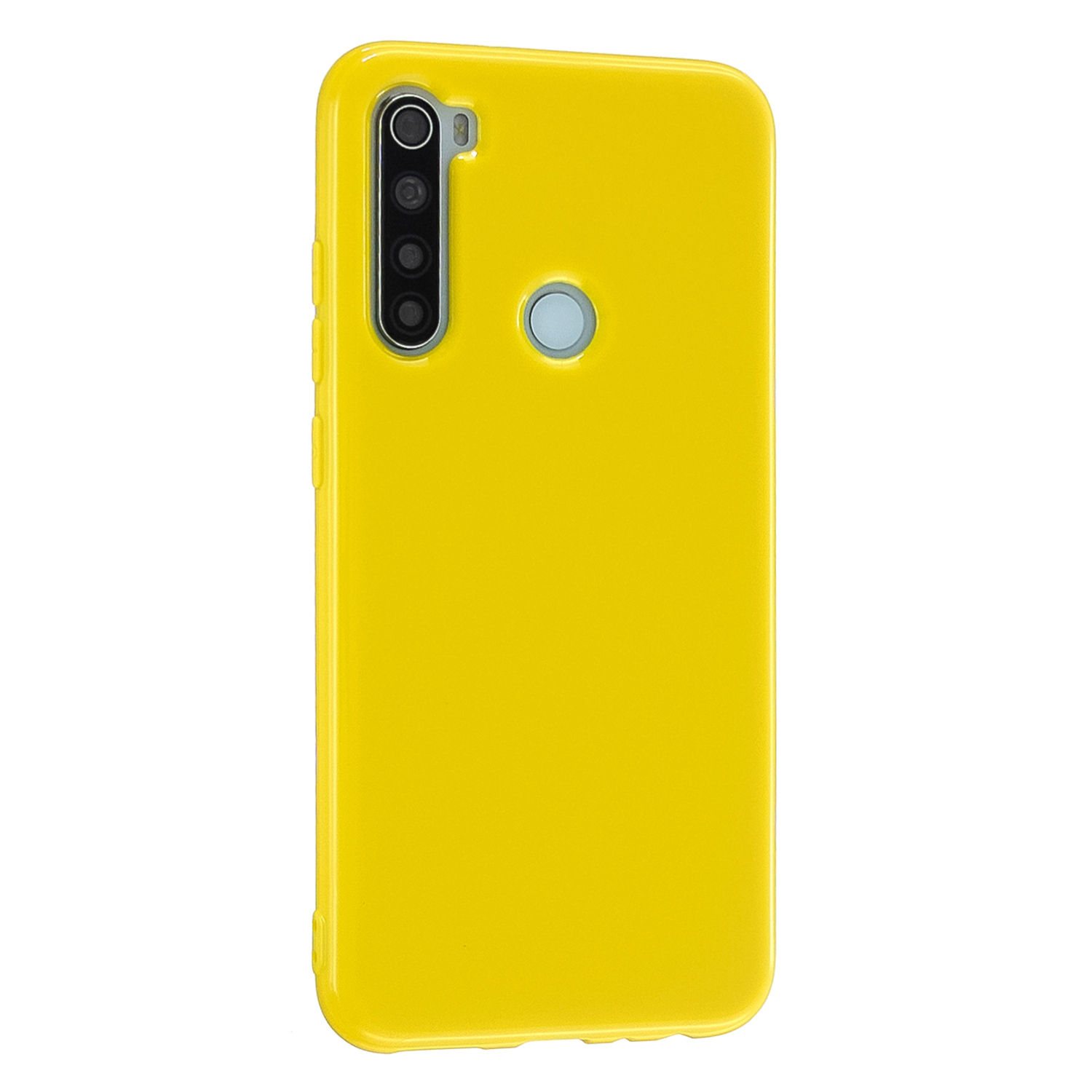 For Redmi Note 8/8 Pro Cellphone Cover 2.0mm Thickened TPU Case Camera Protector Anti-Scratch Soft Phone Shell Yellow