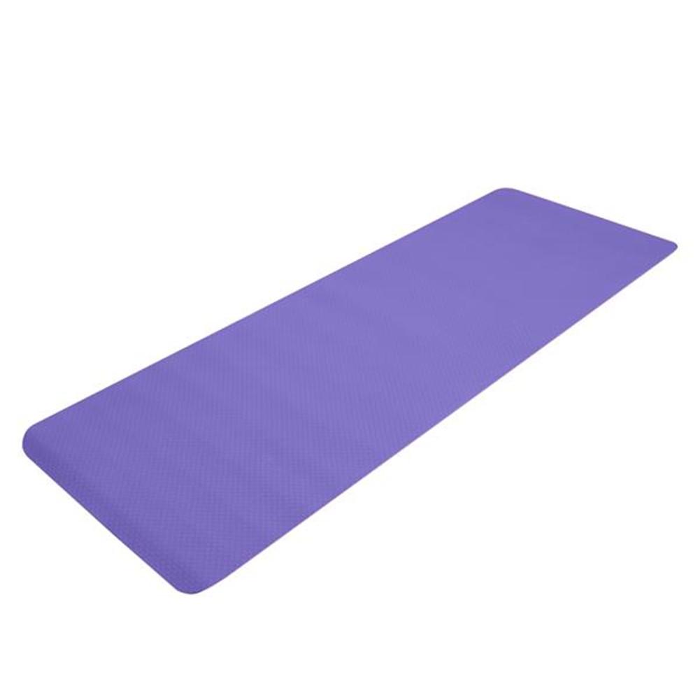 [US Direct] Tpe Yoga  Mat 183*61*6cm Non-slip Gym Pad For Yoga Training Fitness Excercise Taro purple