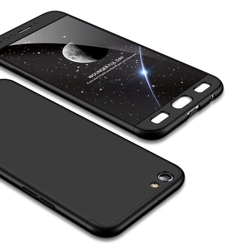 For OPPO F3 PLUS Ultra Slim PC Back Cover Non-slip Shockproof 360 Degree Full Protective Case black