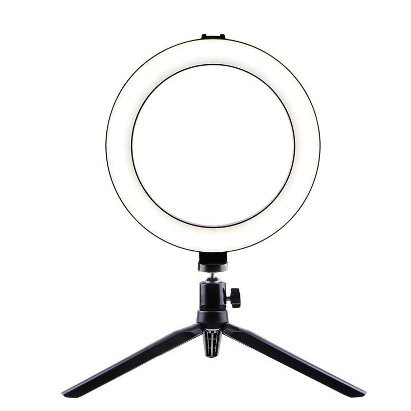 Selfie Ring Light LED Circle Light USB LED Desktop Lamp with Stand Dimmable LED Fill Light for Live Stream Photograph Desktop stand + 20cm fill light