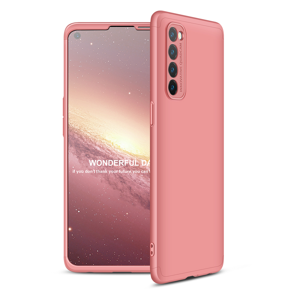 For OPPO Reno 4 /Reno 4 Pro International Edition Mobile Phone Cover 360 Degree Full Protection Phone Case Rose gold