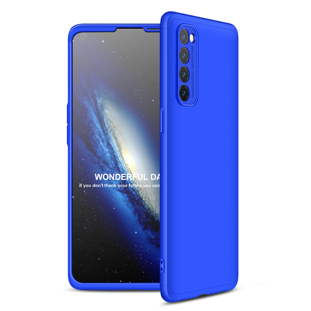 For OPPO Reno 4 /Reno 4 Pro International Edition Mobile Phone Cover 360 Degree Full Protection Phone Case blue