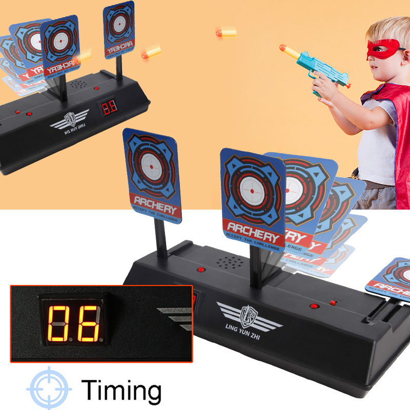 Children Electric Score Soft Ball Target Toy Educational Kids Toy Scoring target only