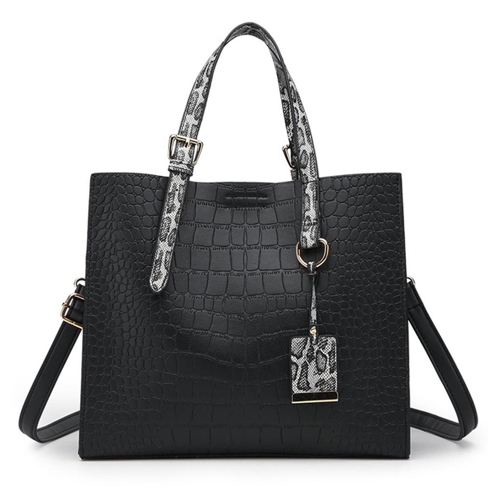 Women Advanced Crocodile Texture Embossed Single Shoulder Handbag
