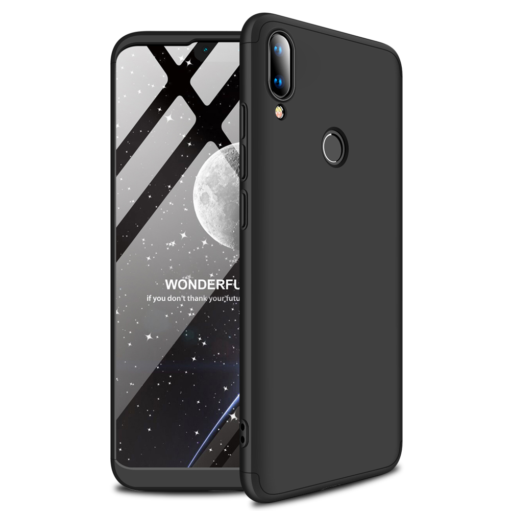 for HUAWEI Y9 2019 Ultra Slim PC Back Cover Non-slip Shockproof 360 Degree Full Protective Case black_HUAWEI Y9 2019