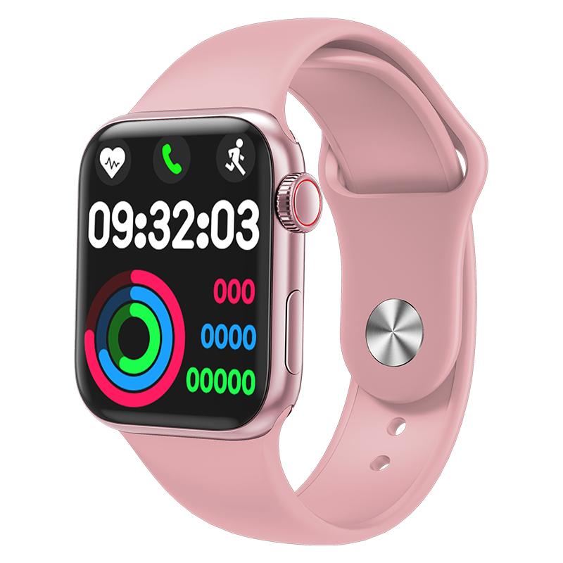 HW12 HW16 Full Screen Smart Watch 44mm 40mm Men Women Multifunction Smartwatch Pink