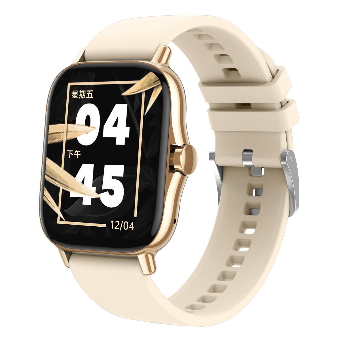 Dw11 Smart  Watch Heart Rate Blood Pressure Bluetooth Call 1.63 Hd Full-screen Multi-sport Watch gold