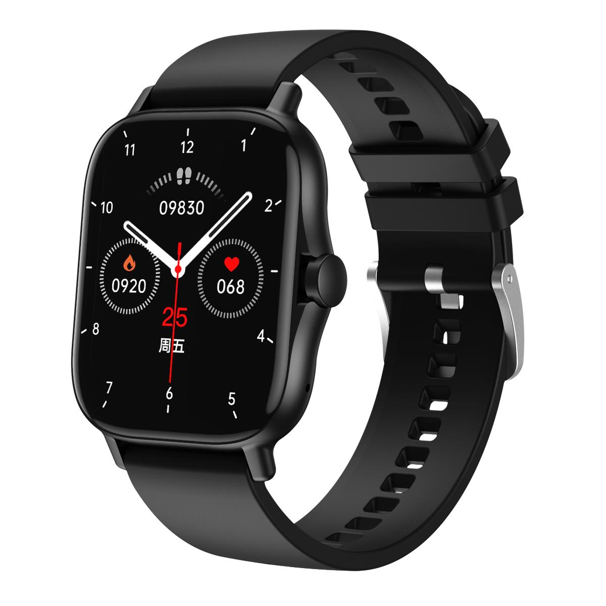 Dw11 Smart  Watch Heart Rate Blood Pressure Bluetooth Call 1.63 Hd Full-screen Multi-sport Watch black