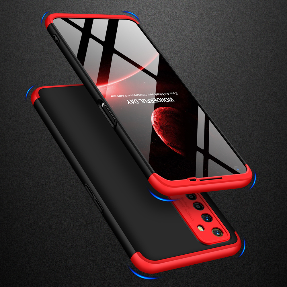 For OPPO Realme 6 Mobile Phone Cover 360 Degree Full Protection Phone Case Red black red