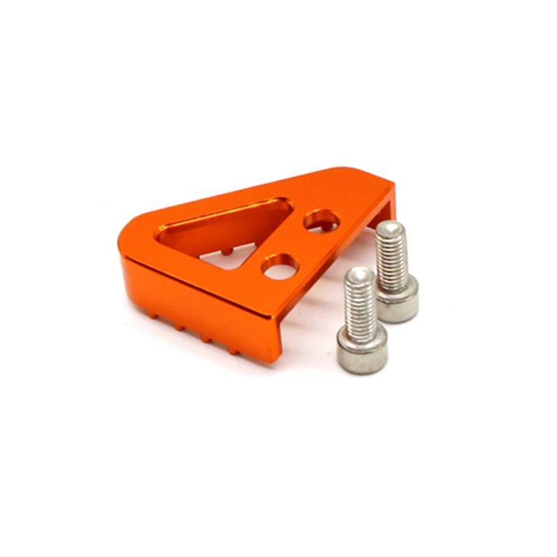 Rear Brake Pedal Step Gear Shift Lever Top For KTM 125 530 duke 690 990 Orange (brake triangle)