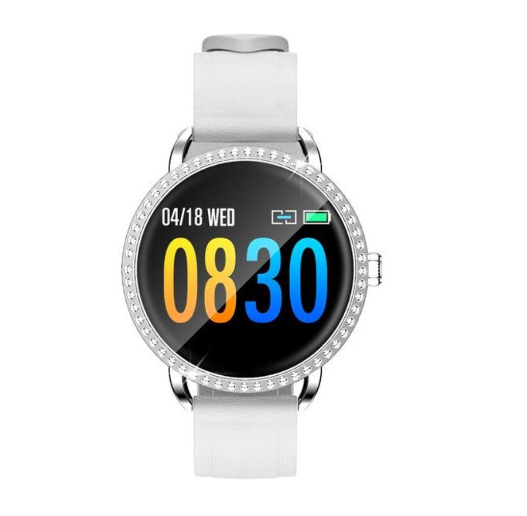 H7 Smart Bracelet Heart Rate Blood Pressure Smart Watch Women Smart Wristband Pedometer Fitness Tracker white
