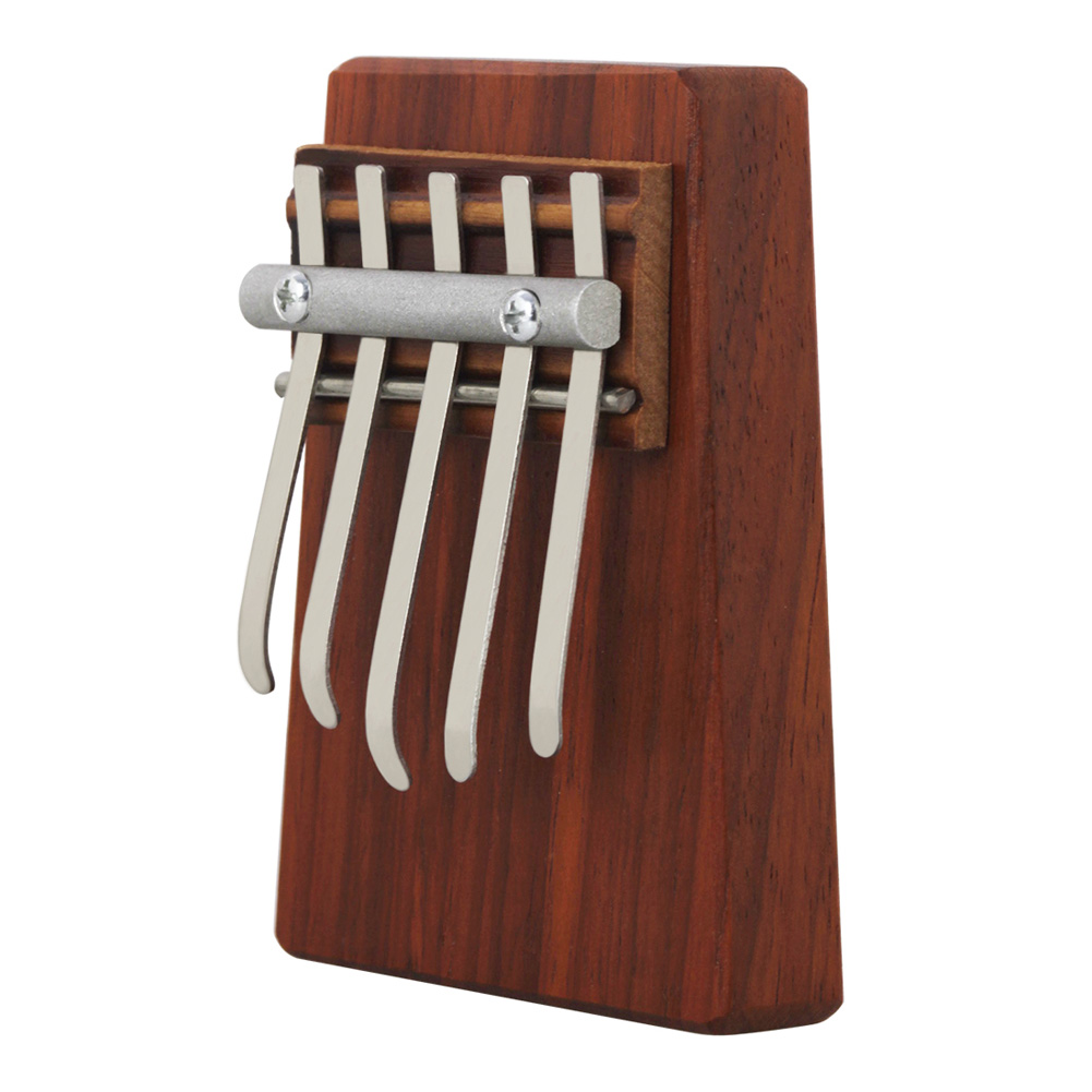 5-tone Kalimba Wood Thumb Piano Easy To Learn Musical Instrument for Kids Adults Rosewood