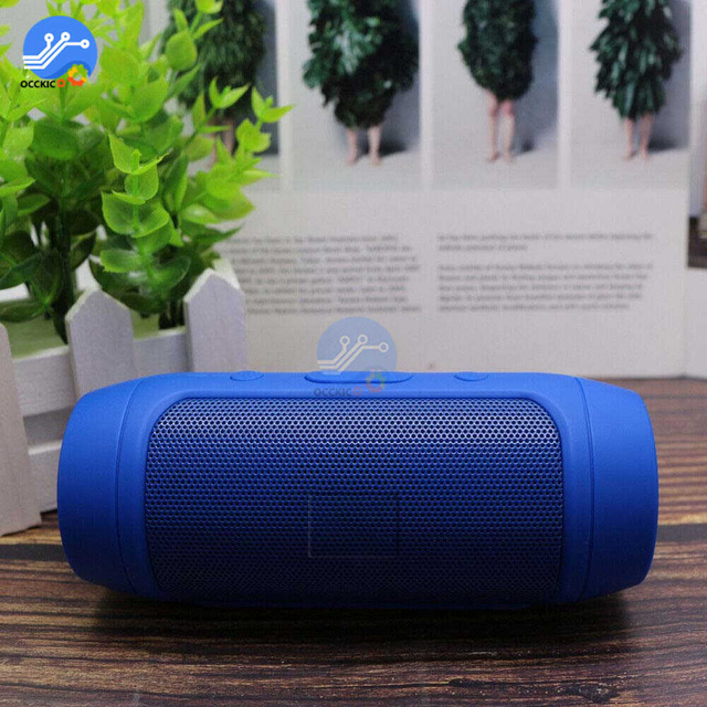 Mini Bluetooth Speaker Wireless Outdoor Stereo Bass Loudspeaker USB TF FM Radio blue