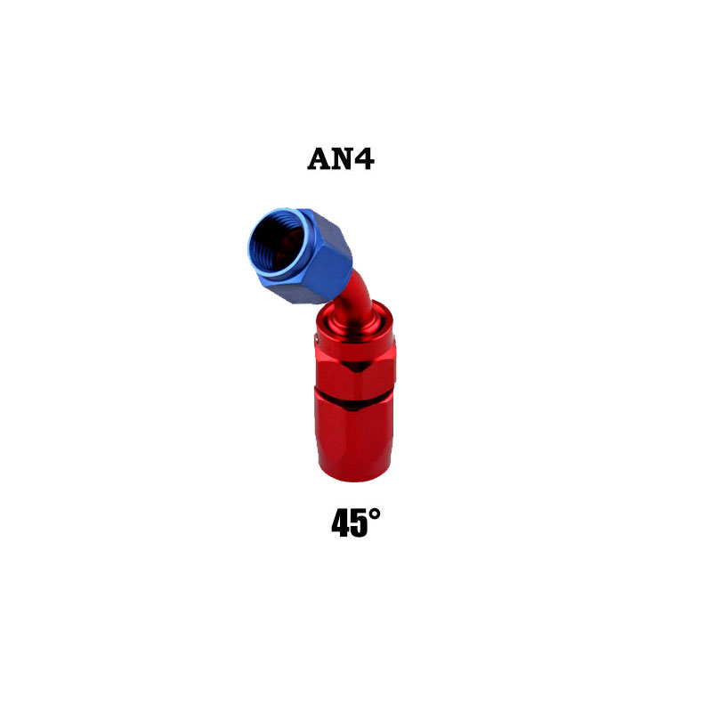 AN4 Swivel Hose End Fitting Adapter for Oil/Fuel/Gas Hose Line 45 degree