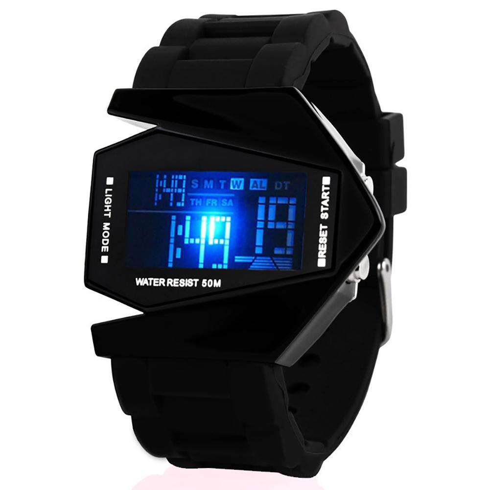 Watch Luxury Digital LED Date Sport Outdoor Electronic Watch For Party Gift Cute Electronic Fashion Wrist Watch Waterproof black