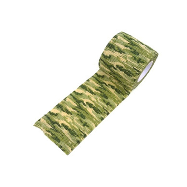 Self-Adhesive Extendable Camouflage Cloth Outdoor Hunting Camouflage Tape Bandage Riding Bicycle Sticker Grass camouflage