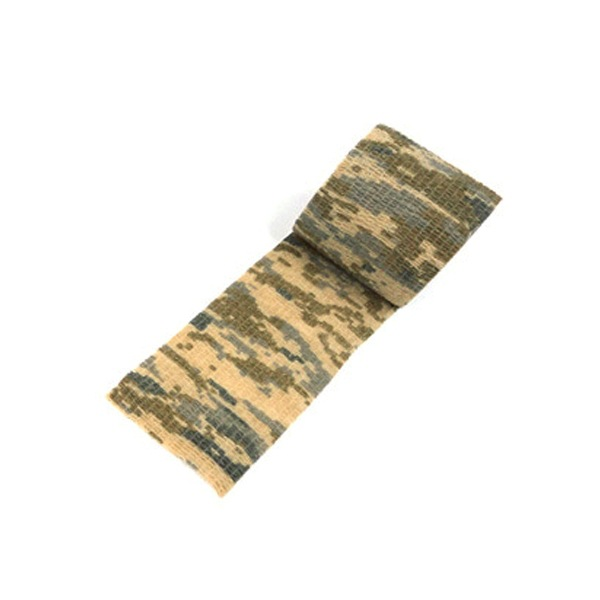 Self-Adhesive Extendable Camouflage Cloth Outdoor Hunting Camouflage Tape Bandage Riding Bicycle Sticker Desert camouflage
