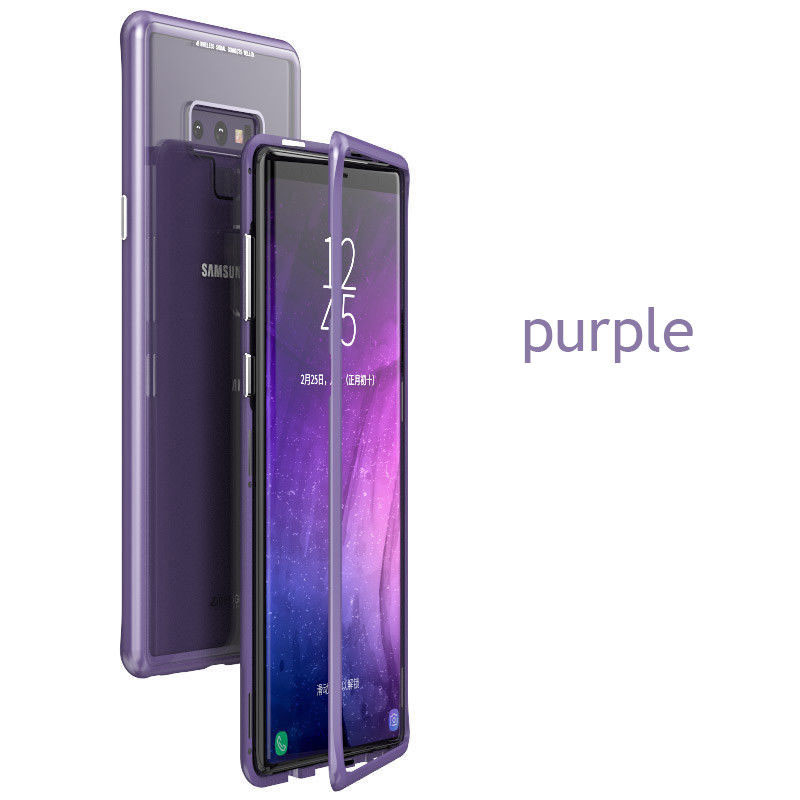 Samsung Tempered Glass  Cover Case - Purple