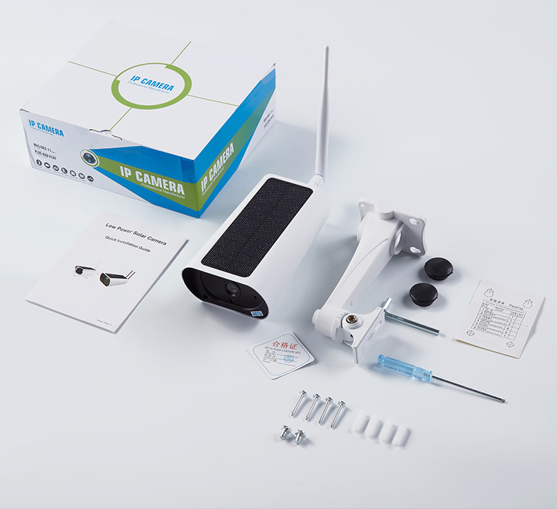 K55A 1080P Solar WiFi IP Camera IR 2-Way Audio IP66 Waterproof 2MP HD Security Surveillance Camera Support Cloud Storage US Plug