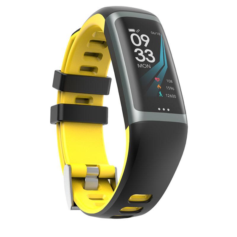 Greentiger G26 Smart Bracelet P67 Waterproof Heart Rate Blood Pressure Oxygen Fitness Bracelet Multi Sport Mode Smart Wristband Yellow