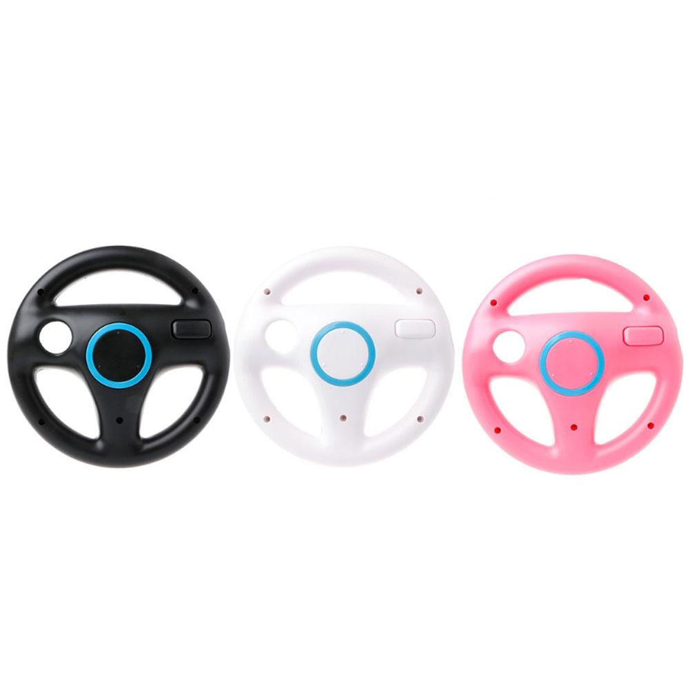 Game Steering Wheel Wii Handle Steering Wheel for Wii Games Pink