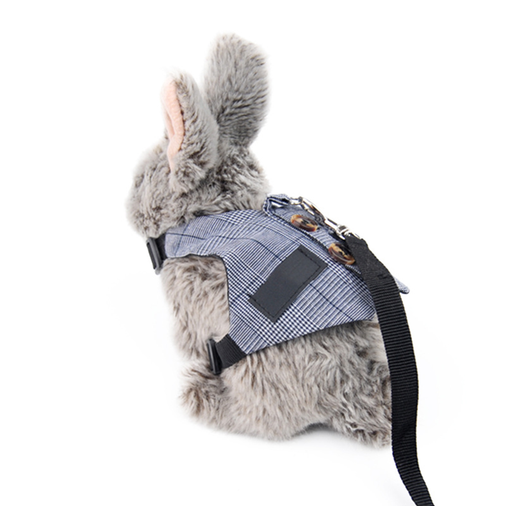 Rabbit  Harness Gentleman Suit Shape Rabbit Chest Strap Pet Leash Strap Pet Supplies M_Traction harness