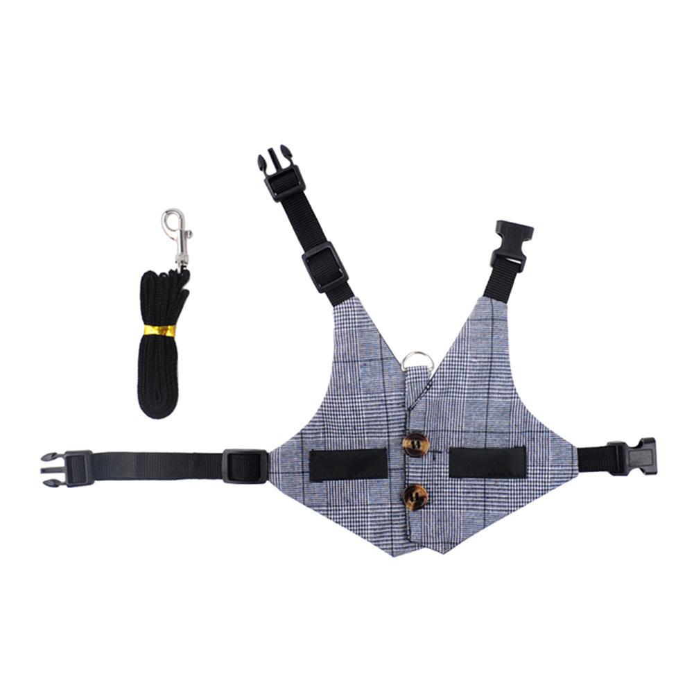 Rabbit  Harness Gentleman Suit Shape Rabbit Chest Strap Pet Leash Strap Pet Supplies L_Traction harness