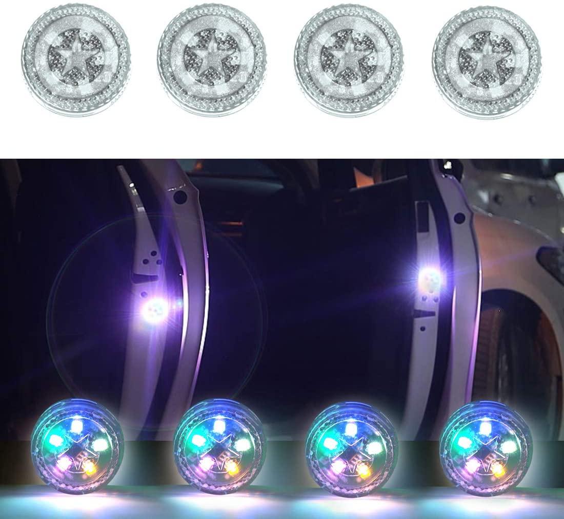 4pcs Car Safety  Light Anti-collision 5 Led Side Door Sensor Warning Light color_5LED