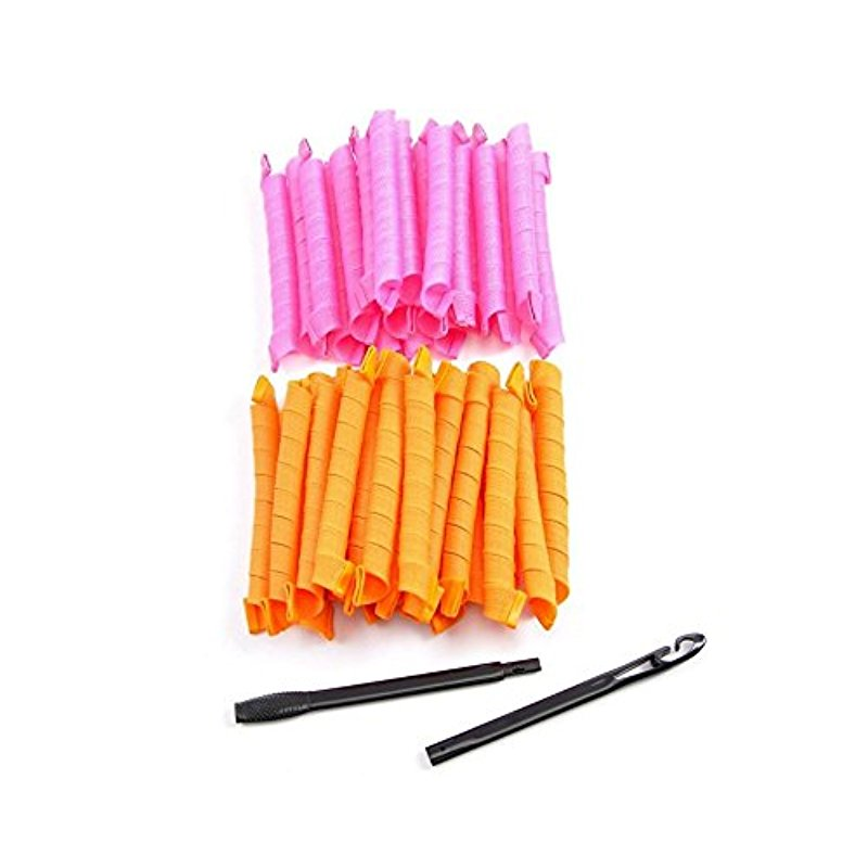 [EU Direct] DragonPad® High Quality Fashion Vakind Cute Hair Curler harmless to Hair and Create Curly Hair Style in Minutes Stretched Length 50CM Circle Roller Pack of 40
