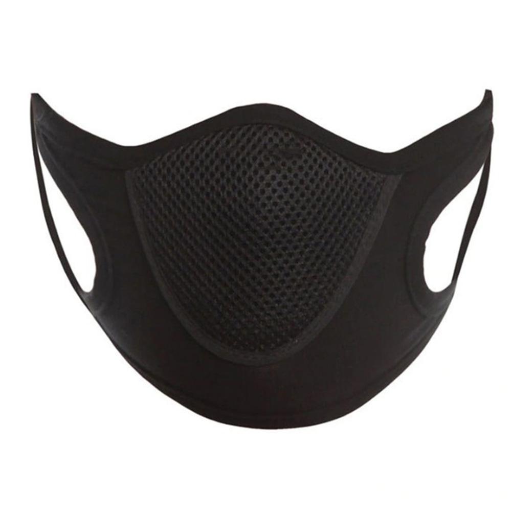 Dustproof Windproof Face Guard Anti Dust Snowboard Skating Cycling Anti-bacterial Reusable Face Towel black