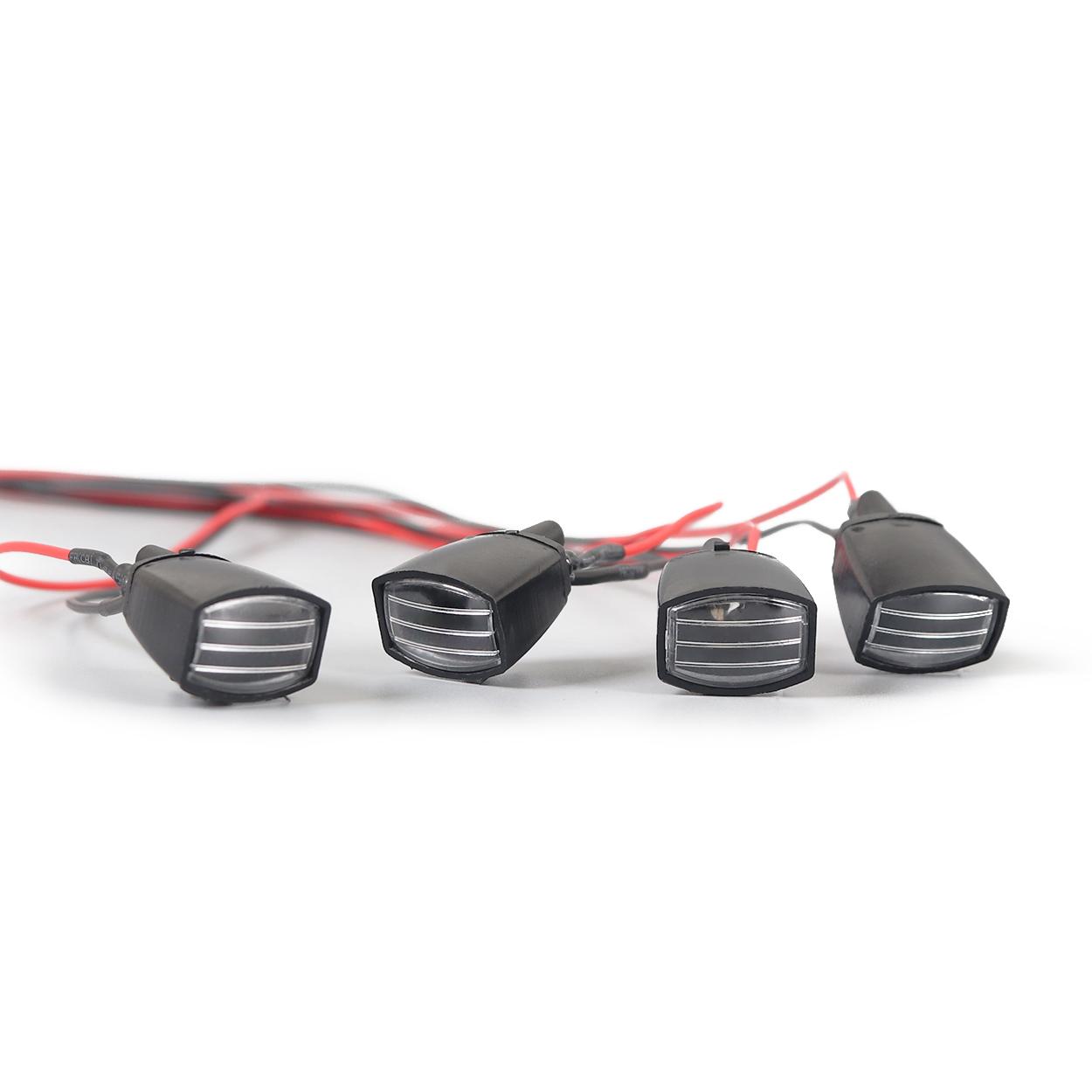 RC Roof Luggage LED Light Bar Kit Lamp for 1/10 Crawler Car Traxxas Trx-4 TRX4 Axial SCX10 RC4WD D90 HSP RGT black