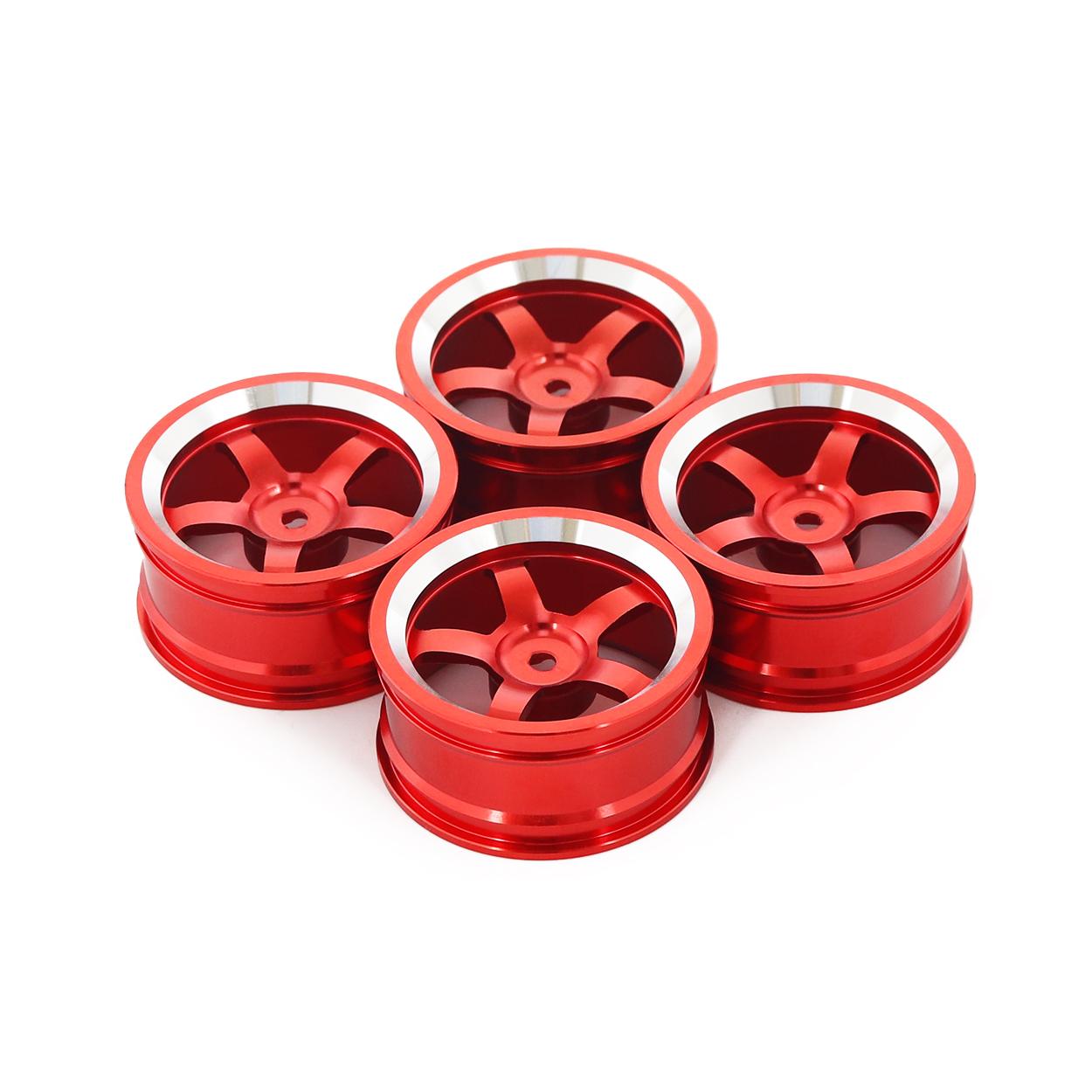 4PCS Metal Wheel Rim 1.9 Inch BEADLOCK for 1/10 RC Rock Crawler Axial SCX10 90046 AX103007 TAMIYA CC01 D90 TF2 Traxxas TRX-4 red