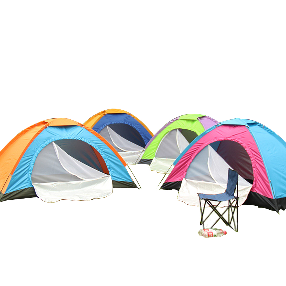 Outdoor Tent Waterproof Automatic Quick-opening Camping Double Layer Tent for Outdoor Travel Hiking Random Color_Single door