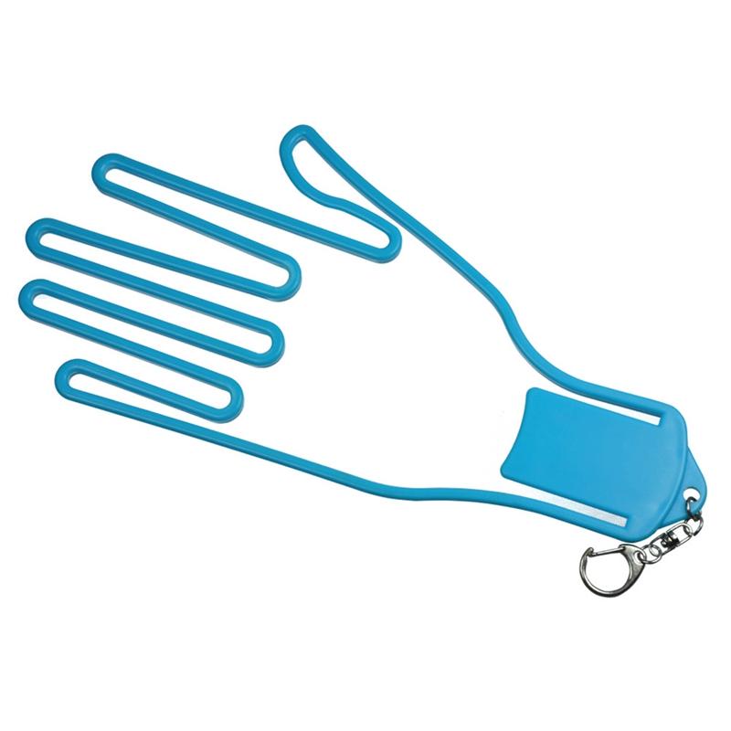 Golf Glove Stretcher with Key Chain Glove Rack Dryer Golf Glove Hanger Holder Golf Accessory light blue