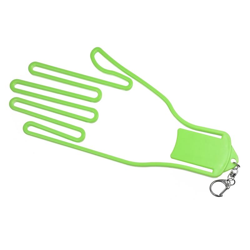 Golf Glove Stretcher with Key Chain Glove Rack Dryer Golf Glove Hanger Holder Golf Accessory green