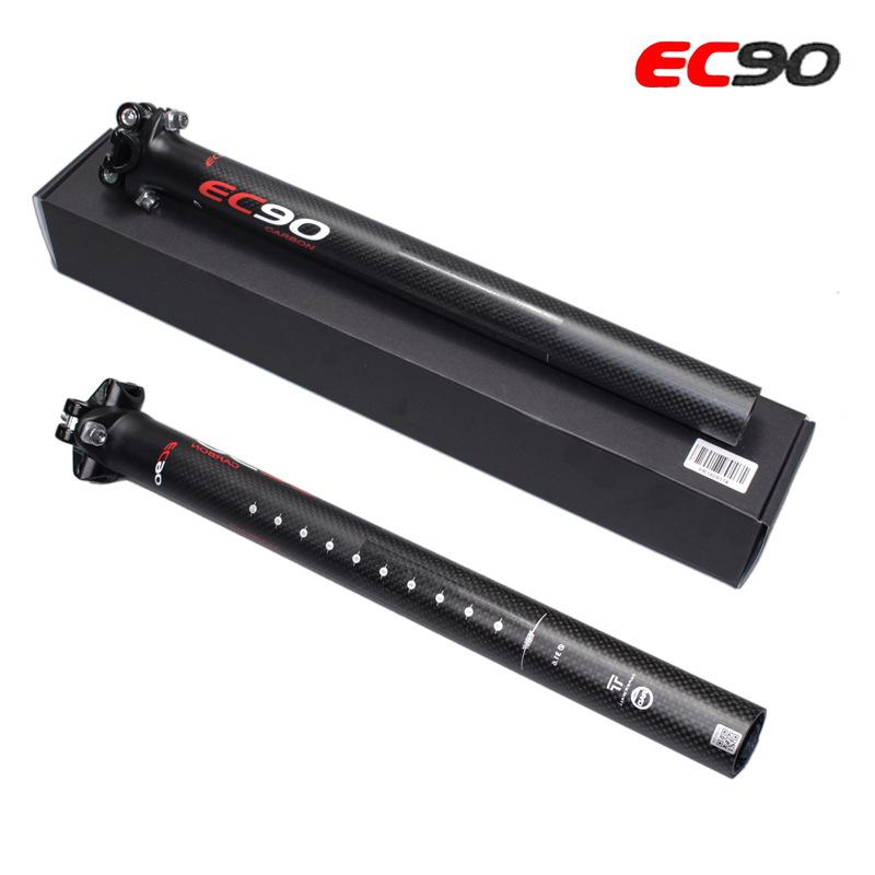Ultra-light Full Carbon Fiber 27.2/30.8/ 31.6 Seat Tube Bicycle Seat Tube Connector Seatpost Rod Carbon Seatpost black_27.2-400mm