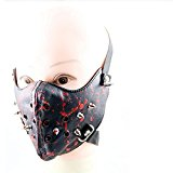 Crazy Genie Halloween Cosplay Gothic Horror Anti Dust Cycling Bicycle Bike Motorcycle Racing Ski Face Mask (blood)