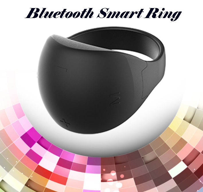 Bluetooth 5.0 Ring Remote Control PPT Page-Turner Mouse Bluetooth Mobile Phone Remote Control black