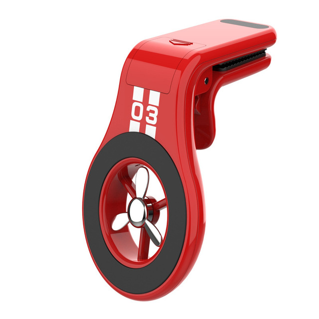 Magnetic Car Phone Holder Air Outlet Vent Mobile Phone Bracket Stand with Aromatherapy red